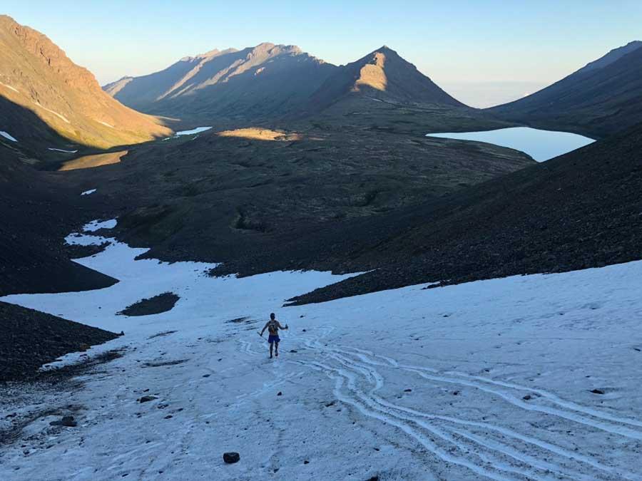 Snow descent